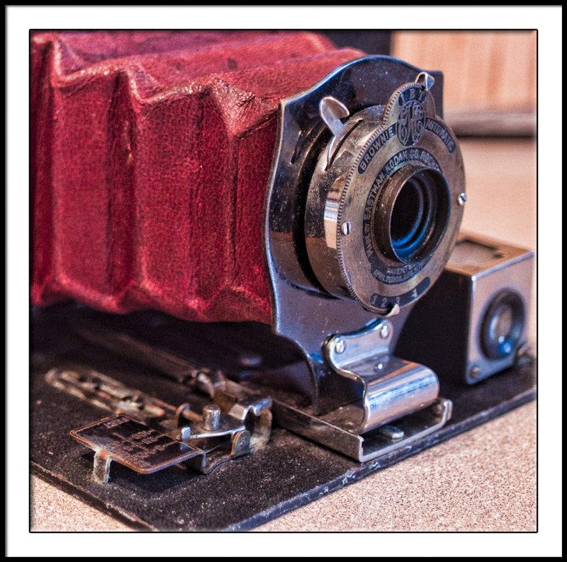 No. 2 Folding Box Brownie closeup