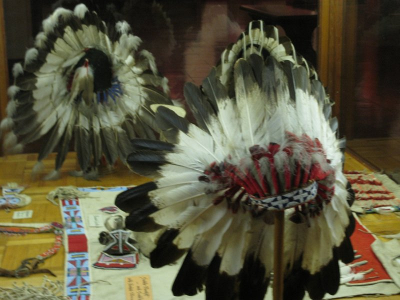 Native headgear at Woolaroc.