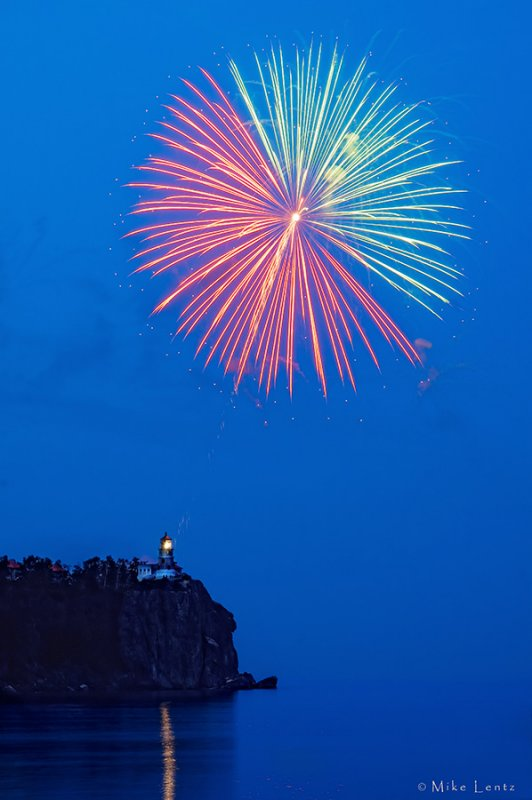 Split Rock 100 yr anniversary fireworks display