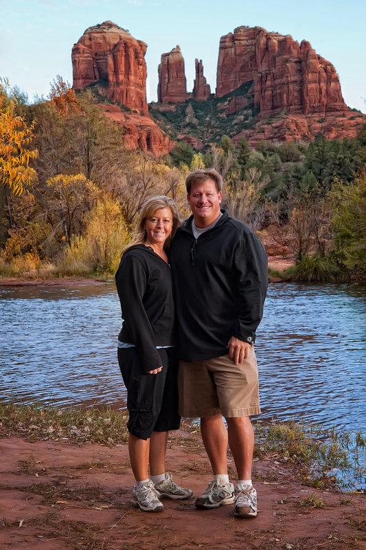 Beth & I at Cathedral Rock in Sedona, AZ (autumn 2010)