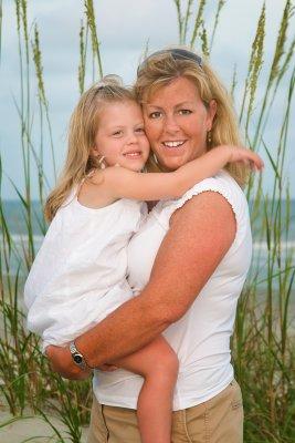 Cait hugs mom in dunes