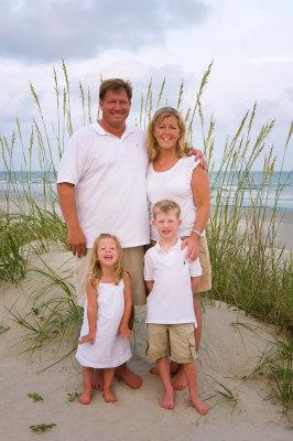 Lentz family on Isle of Palms, SC.