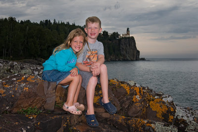 Ryan & Caitlin at Split Rock Lighthose 2010