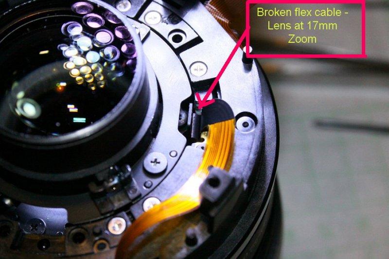 EFS 17-85mm IS f4-5.6 err 01 - broken flex cable