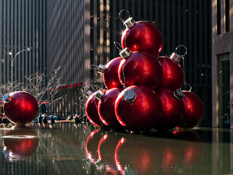 Christmas Ornaments NYC Style