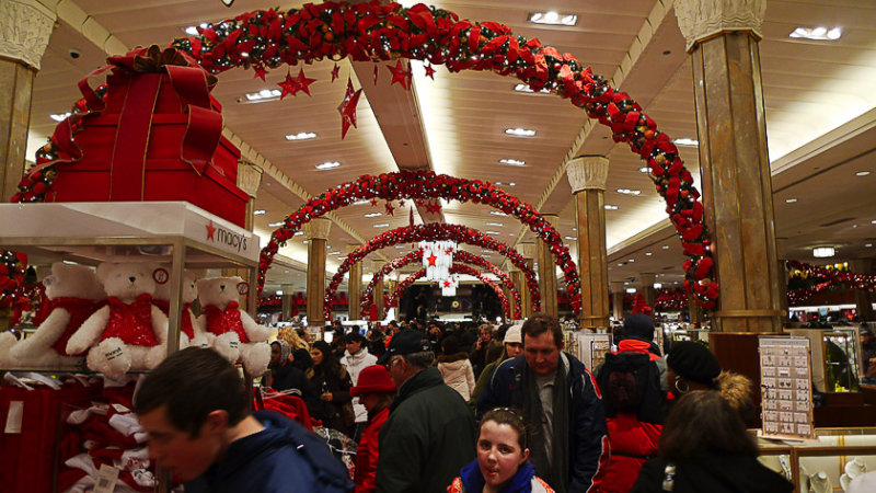 The day before Christmas at Macys