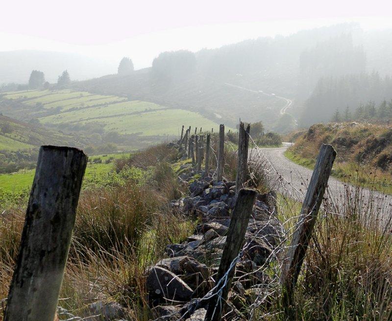 Through the Irish mist.