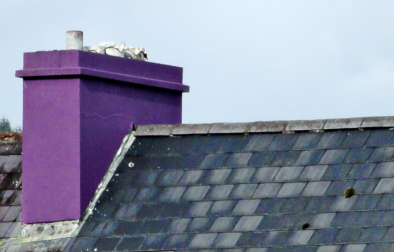 Purple chimney