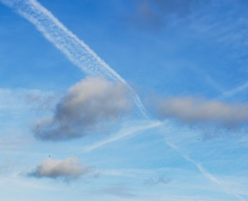 Contrails over County Cork