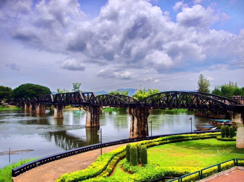 Bridge over the River Kwai (Khwae) Kanchanaburi