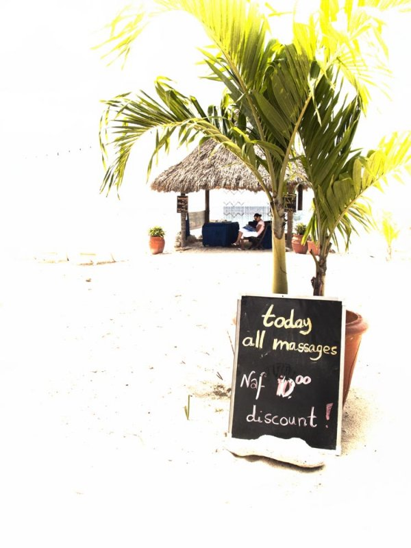 Massage with discount on the beach