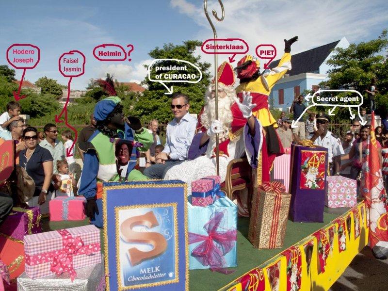 Arrival Sinterklaas on Curacao-Aankomst Sinterklaas op Curacao