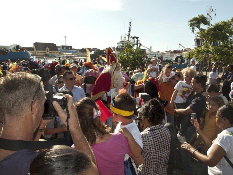 Arrival Sint Nikolaas at Curacao