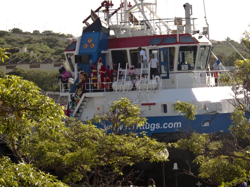 Arrival Sint Nikolaas on Curacao