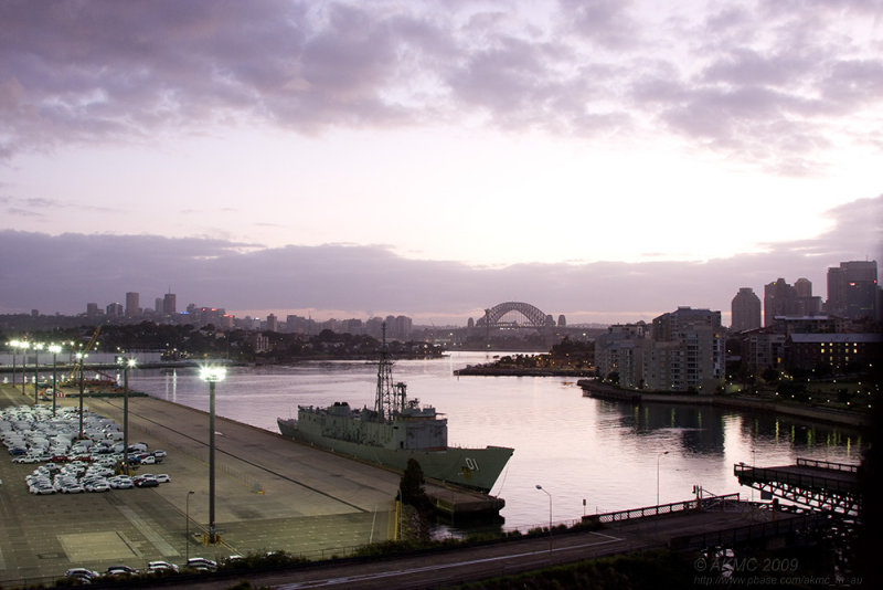3235 HMAS Adelaide At Dawn