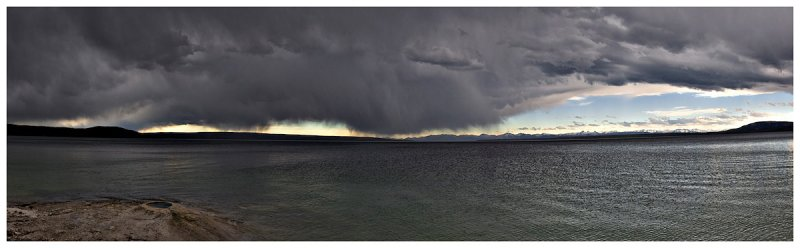 Storm Over the West Thumb of Yellowstone Lake