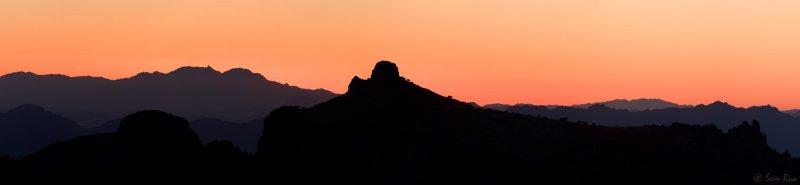 Kitt Peak and Thimble Peak Panorama