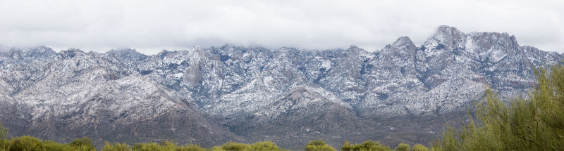 Catalina Snow Panorama