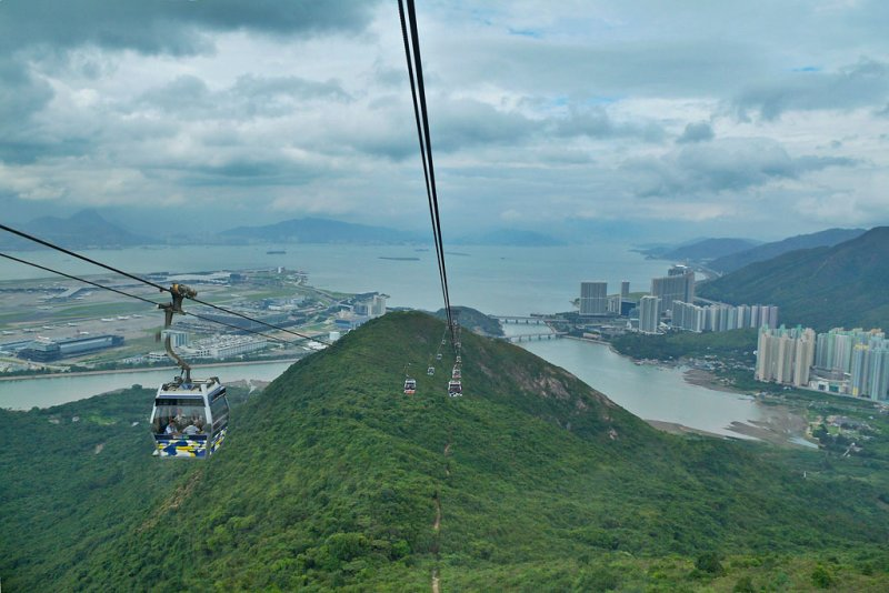 View From The Ngong Ping 360 Cable Car
