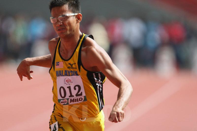 Malaysias Mohd Raduan Emeari winning the 100m T36 (1CWS1508.jpg)