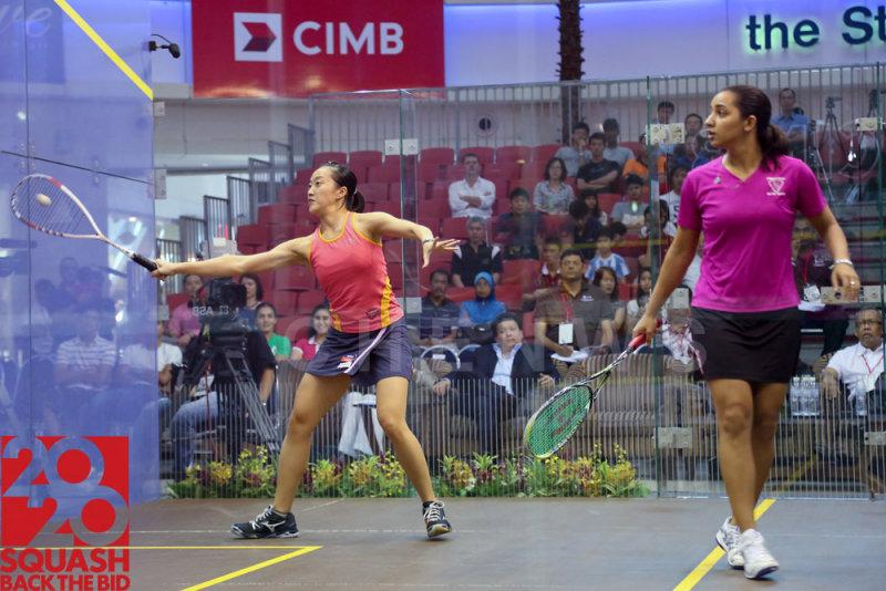 Womens semi-final: Low Wee Wern vs Raneem El Weleily