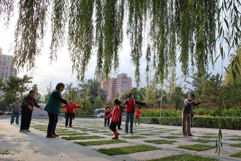 Morning exercise in Beijing