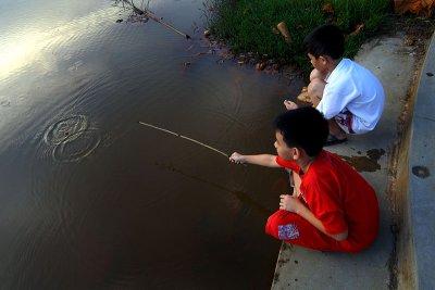Fishing, Tasik Wawasan Puchong, Malaysia