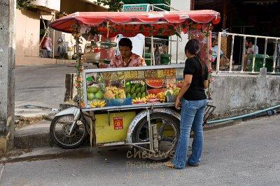 Road side fruits seller