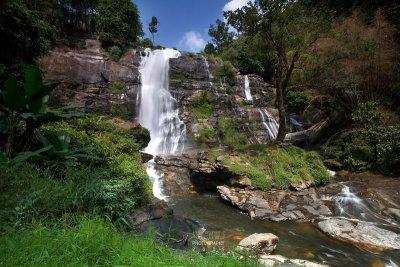 Wachirathan waterfalls, Doi Inthanon National Park N18.5412 E98.5995