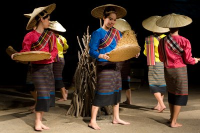 Rich Winnowing Dance, Northern Thai