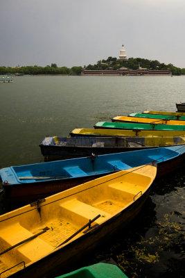 Boats at lakeside