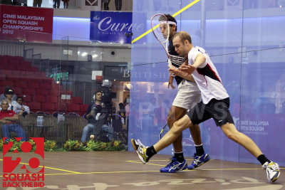 Mens semi-final: Nicolas Mueller vs Mohamed El Shorbagy