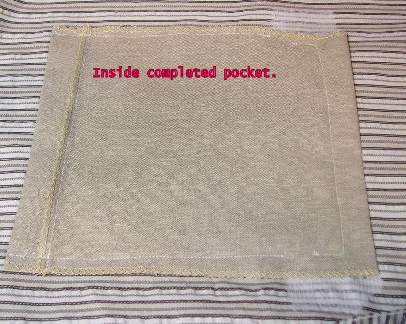 Finished Pocket Inside Shirt