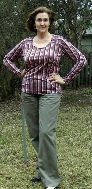 Polka-Dot Stripe Top