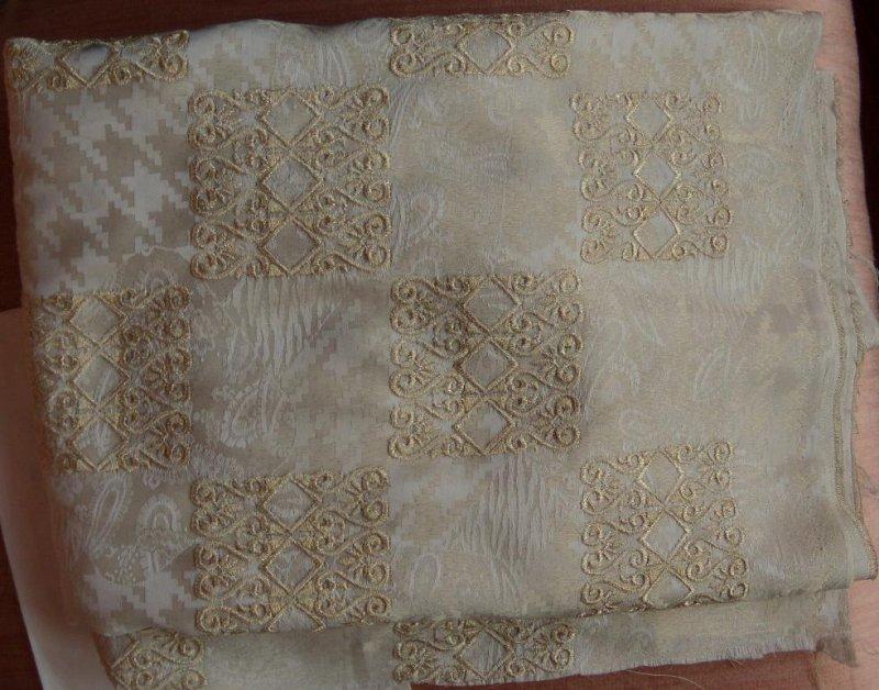 Embroidered Jacquard Silk