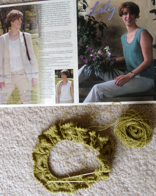 Canapone Hemp for Louet Lily Shell picot hem edge