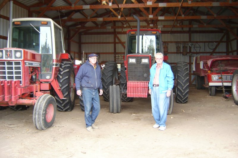 Bill, Pearle with Tractors