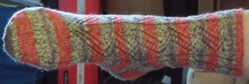 Lacy Concertina Sock