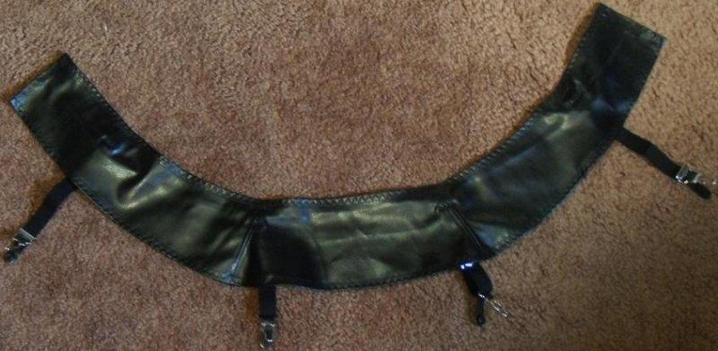Pleather Garter Belt