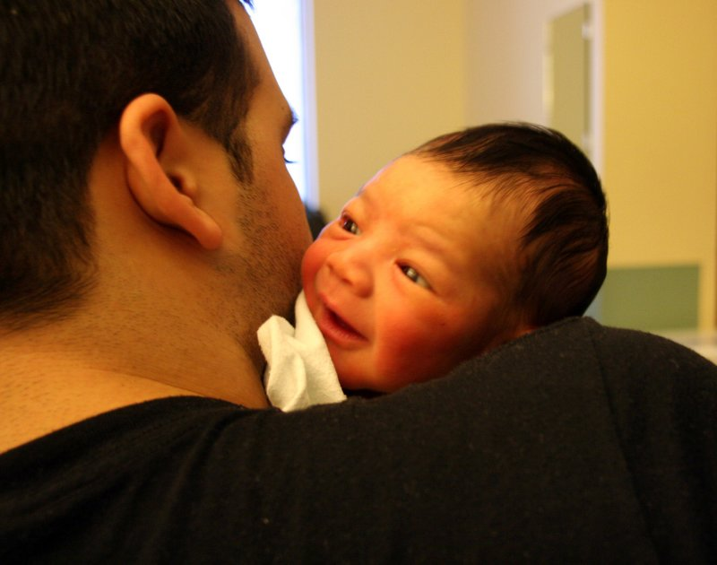 Happy with Daddy