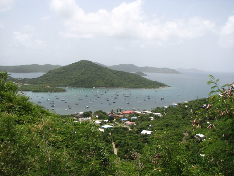 Coral Bay view from Bordeaux Mountain Rd