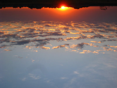 Upside-down sunrise
