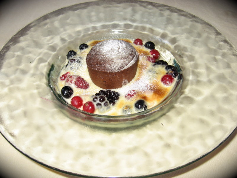 Delicious dessert at Romantik Hotel near Zierikzee