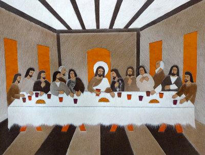Last Supper on Leather