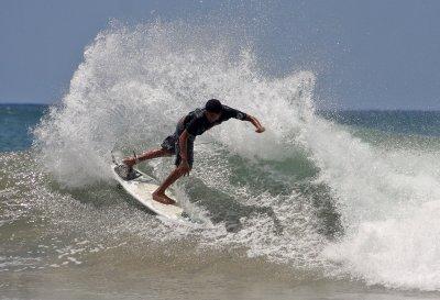 Surfing at Maderas Beach