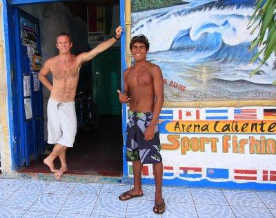 Brent & Rex Calderón Central American Junior Surf Champion 2008