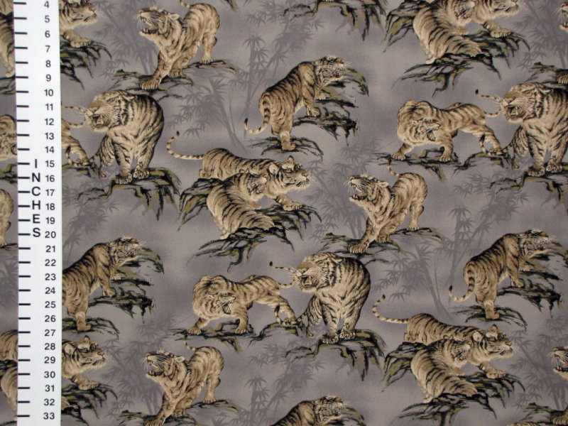 Tiger fabric detail