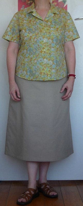 Finished skirt (with McCalls 5052 on top)