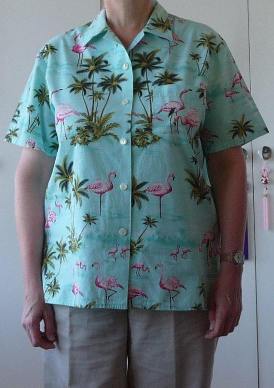 Aqua flamingo version