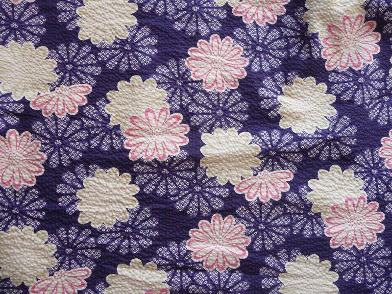 Japanese seersucker cotton, close up
